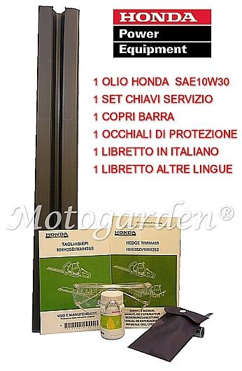 Tagliasiepi professionale Honda completo di accessori ed omaggi. HHH25D 60 con accessori.
