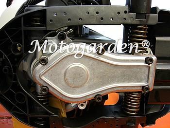Antivibranti di serie per filtrare le vibrazioni del motore.