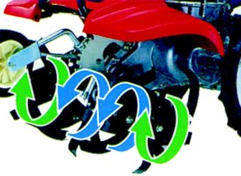 Motozappa Honda con nuovo sistema ARS per zappare e fresare il terreno.