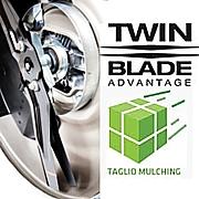 Doppie lame Micro Cut, Twin Blade che eseguono un mulching perfetto.