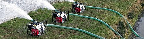 Motopompa Honda WB20XT per irrigazione e pompaggio acqua.