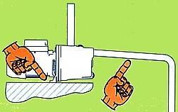 Istruzioni di fissaggio elettropompa DAB JET 102 M con pendenza positiva del tubo di aspirazione.