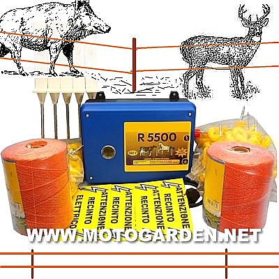 Kit recenzione elettrica per cinghiali e cervi for Recinzione elettrica per cavalli