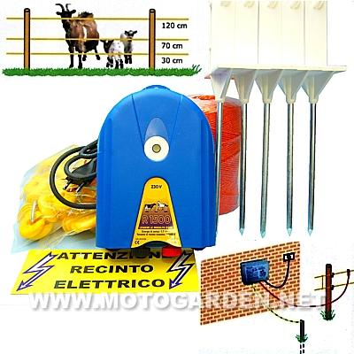 Nuovo Kit recinzione elettrica per animali da cortile  Motogarden.net