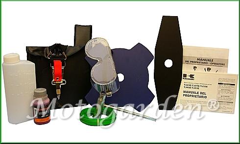 Omaggi ed accessori per decespugliatori TJ53E inclusi nella promozione Motogarden.