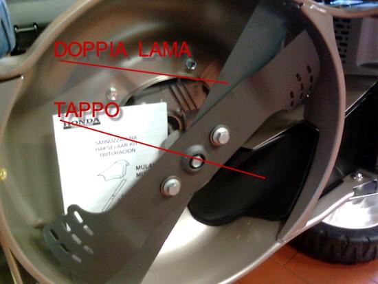 Sistema di taglio Mulching a doppia lama Honda, taglio Twin Blade.
