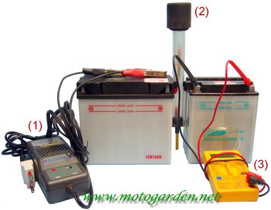Strumenti di controllo per batterie a liquido in acido con elettrolito.