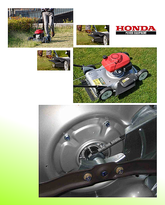Rasaerba Honda HRS 536C per il taglio del prato dotato di scarico laterale e mulching.