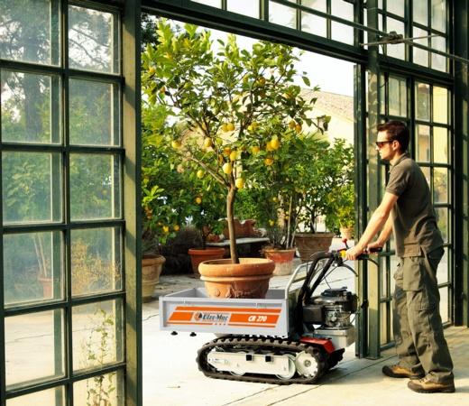 Carrelli cingolati per lavori pesanti in agricoltura, in edilizia, in serra.