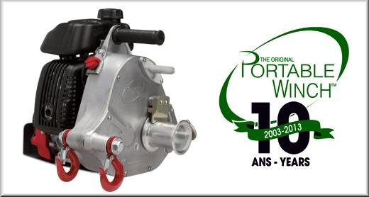 Portale Winch PCW5000, verricello portatile a motore a scoppio per il traino in campo forestale ed operazioni di salvataggio.