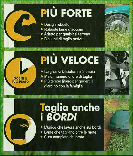 Tecnologia Robomow per il taglio automatico del prato, ottimo per tagliare l'erba senza fatica.